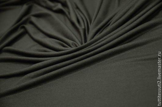 Шитье ручной работы. Ярмарка Мастеров - ручная работа. Купить Трикотаж 03-003-1624. Handmade. Тёмно-зелёный