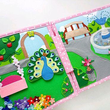 Куклы и игрушки ручной работы. Ярмарка Мастеров - ручная работа Замок книга для маленьких принцесс с королевским парком. Handmade.
