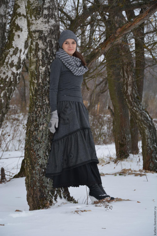 Юбки в стиле бохо зимние
