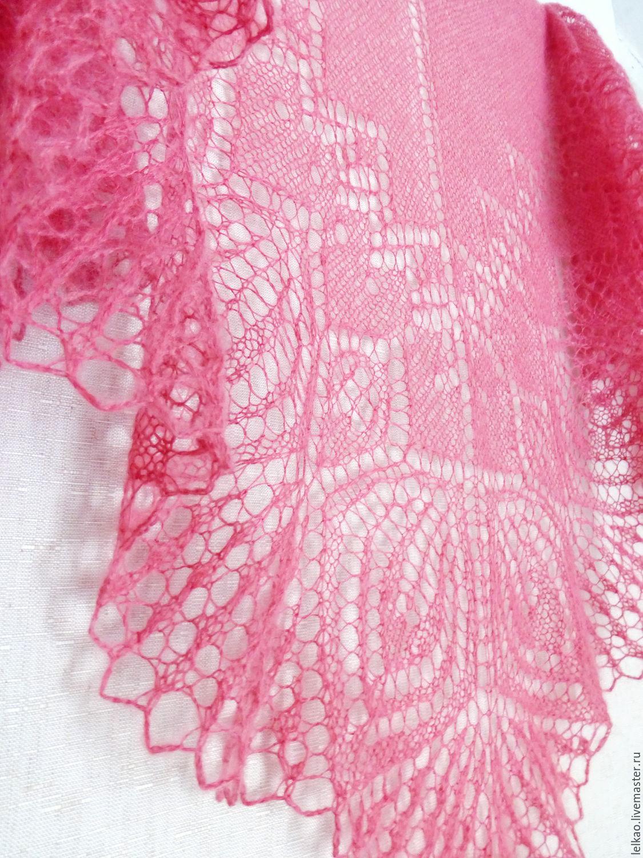 Shawl knitting, shawl down, openwork shawl