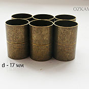 омплет магнитных колпачков ,17 мм внутренний диаметр, цвет бронза