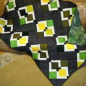 """Для дома и интерьера ручной работы. Ярмарка Мастеров - ручная работа Лоскутное одеяло """"Квадраты"""". Handmade."""