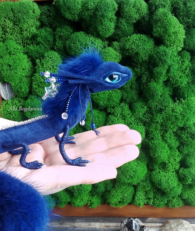 Синий лесной дракон интерьерная игрушка, Мягкие игрушки, Новосибирск,  Фото №1