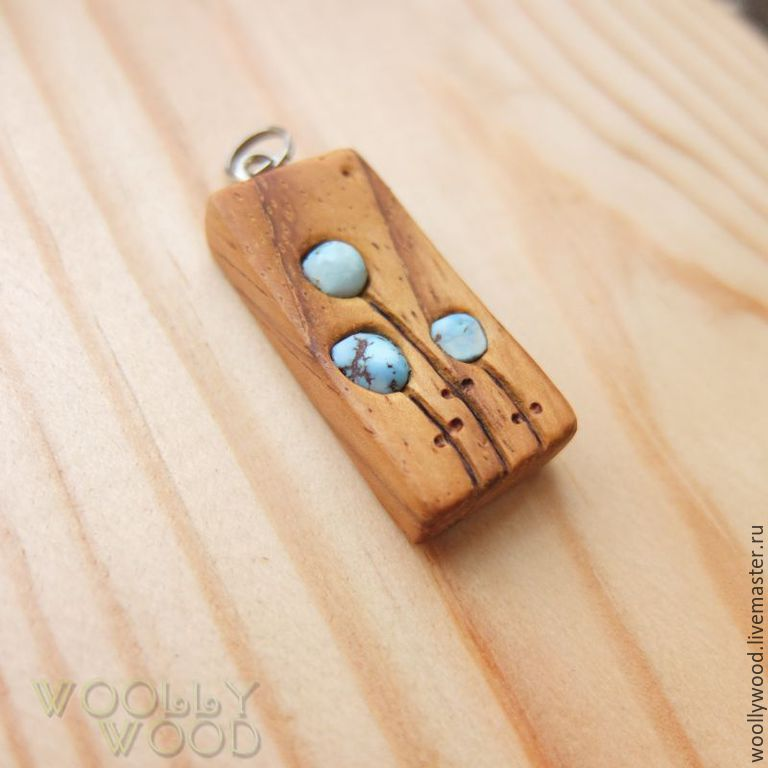 Wooden pendant with turquoise shop online on livemaster with pendants handmade livemaster handmade buy wooden pendant with turquoise aloadofball Image collections
