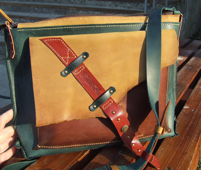 "Copy of Copy of Bag of leather Crazy Horse ""Casual"", Crossbody bag, Sumi,  Фото №1"