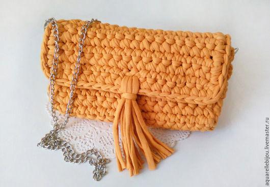 Женские сумки ручной работы. Ярмарка Мастеров - ручная работа. Купить Вязаный клатч. Handmade. Вязаная сумка, стильный клатч
