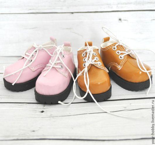 Куклы и игрушки ручной работы. Ярмарка Мастеров - ручная работа. Купить Ботиночки лакированные 7,2см. Обувь для кукол. Handmade.