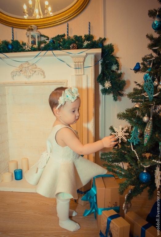 """Одежда для девочек, ручной работы. Ярмарка Мастеров - ручная работа. Купить Детское платье """"Льдинка"""". Handmade. Белый, нарядное платье"""