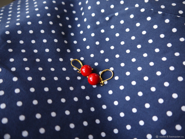 Earrings-tricks ' Crumbs-earrings', Thread earring, Moscow,  Фото №1