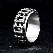 Украшения handmade. Livemaster - original item Spinner ring from jewelry steel with rotating center. Handmade.