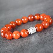 Украшения handmade. Livemaster - original item Natural Carnelian Bracelet made of natural stones. Handmade.