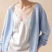 Одежда handmade. Livemaster - original item Cashmere cardigan with buttons Breeze. Handmade.