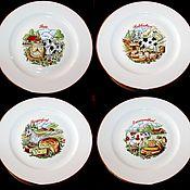 Винтаж handmade. Livemaster - original item Vintage plates