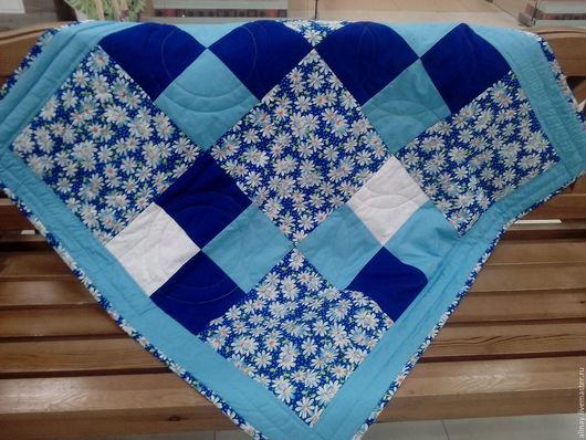 Пледы и одеяла ручной работы. Ярмарка Мастеров - ручная работа. Купить Детское лоскутное одеяло. Handmade. Синий, голубой