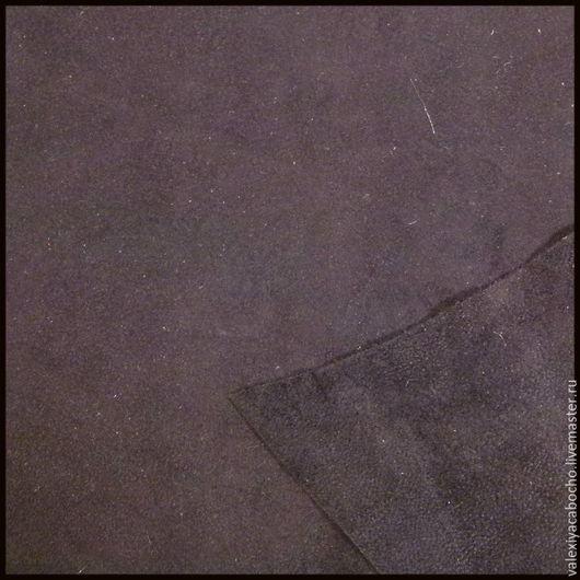Шитье ручной работы. Ярмарка Мастеров - ручная работа. Купить Кожа натуральная замша - баклажан темный (разные кусочки). Handmade.