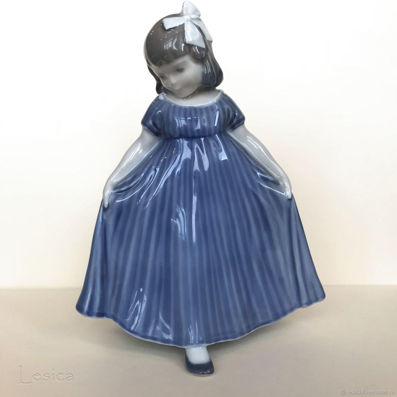Винтаж: Статуэтка Девочка в голубом Royal Copenhagen, Дания, Предметы интерьера винтажные, Раменское,  Фото №1
