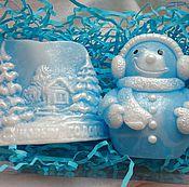Косметика ручной работы. Ярмарка Мастеров - ручная работа Новогодний набор мыла. мыло снеговик. мыло с новым годом. Handmade.