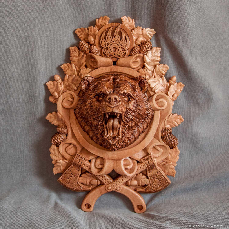 Wood panels Bear, Sculpture, Pyatigorsk,  Фото №1