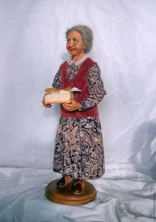 Коллекционные куклы ручной работы. Ярмарка Мастеров - ручная работа. Купить Интерьерная авторская кукла Бабушкины пирожки. Handmade. Комбинированный
