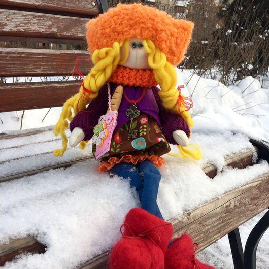 Куклы тыквоголовки ручной работы. Ярмарка Мастеров - ручная работа. Купить Текстильная кукла Веня и батон:). Handmade. Текстильная кукла