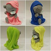 Косметика ручной работы. Ярмарка Мастеров - ручная работа Мыло мишка Тедди  в полотенце. Handmade.