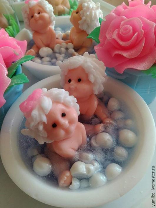 Мыло ручной работы. Ярмарка Мастеров - ручная работа. Купить Дети в ванной. Handmade. Белый, мыло ручной работы