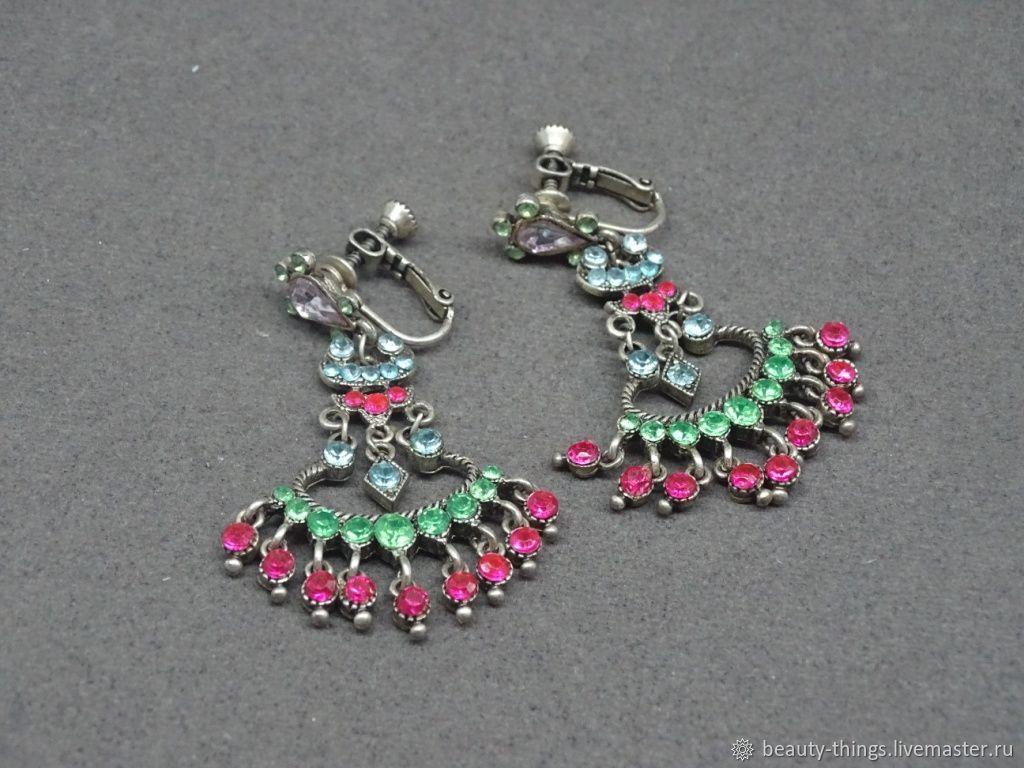 5faf8925f Vintage Jewelry. Livemaster - handmade. Buy Luxury clip-on earrings.Vintage  ...