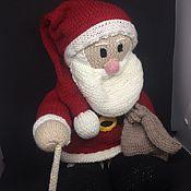 Дед Мороз и Снегурочка ручной работы. Ярмарка Мастеров - ручная работа Дед мороз мягкий Вязанный. Handmade.