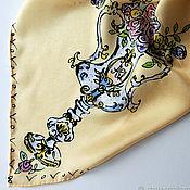 Аксессуары handmade. Livemaster - original item Roses silk handkerchief Gift. Handmade.