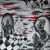 Аксессуары handmade. Livemaster - original item Shawl-the picture Chess. Handmade.