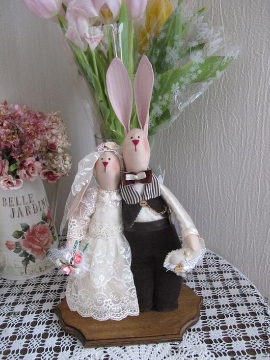 Куклы Тильды ручной работы. Ярмарка Мастеров - ручная работа. Купить Зайцы Свадебные неразлучники в стиле Tilda. Handmade. Бежевый
