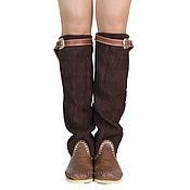 Обувь ручной работы handmade. Livemaster - original item Winter boots with a suede shaft STRETCH. Handmade.