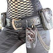 Сумки и аксессуары handmade. Livemaster - original item Set of bags on the belt.. Handmade.