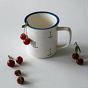 Посуда handmade. Livemaster - original item Retro marine mug, handmade ceramics. Handmade.