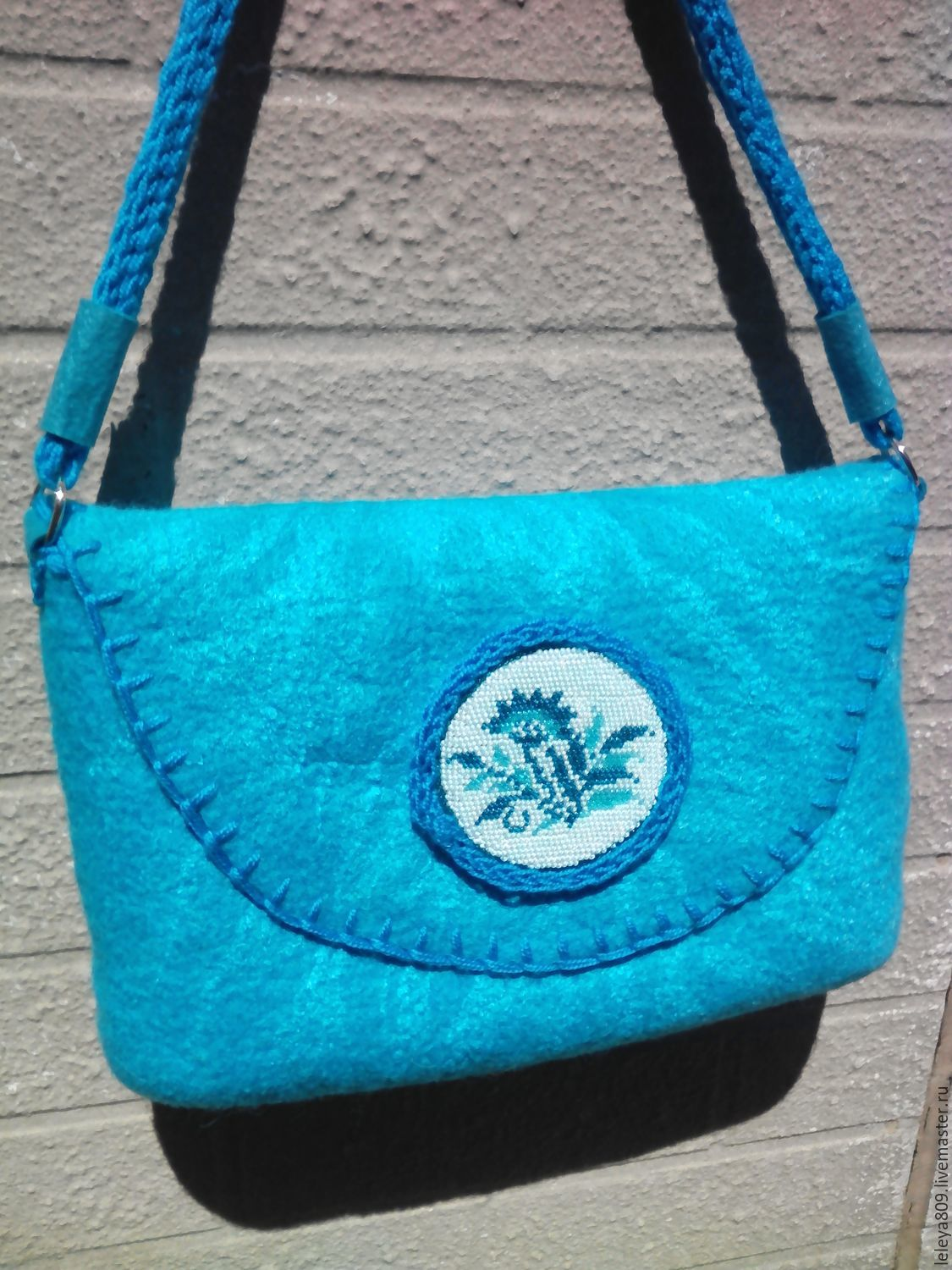 Biryusinka. Bag felted from natural wool. The author's work.