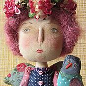 Куклы и игрушки ручной работы. Ярмарка Мастеров - ручная работа Фанни с птичкой. Handmade.