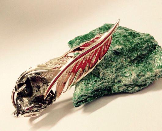 Броши ручной работы. Ярмарка Мастеров - ручная работа. Купить Брошка с метеоритом. Handmade. Брошка, метеорит