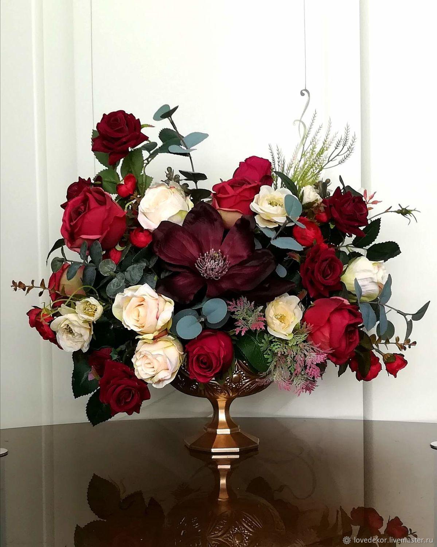 Интерьерные композиции ручной работы. Ярмарка Мастеров - ручная работа. Купить ' Одри ' . Букет цветов в вазе. Handmade.