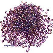 Материалы для творчества handmade. Livemaster - original item 10 grams of 10/0 seed Beads, Czech 21060 Premium Preciosa amethyst transparent raduz. Handmade.