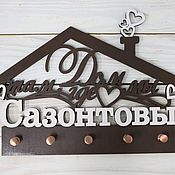 Для дома и интерьера handmade. Livemaster - original item The housekeeper is a wall with name. Handmade.
