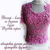 Материалы для творчества handmade. Livemaster - original item irish lace. MK knitting blouses