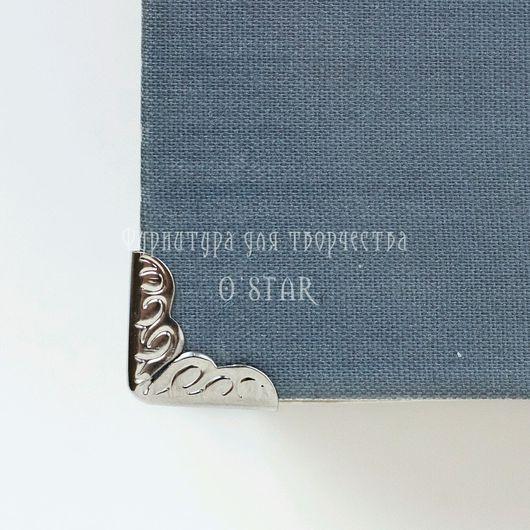 Открытки и скрапбукинг ручной работы. Ярмарка Мастеров - ручная работа. Купить уголки для блокнотов, книг, обложек серебро. Handmade.