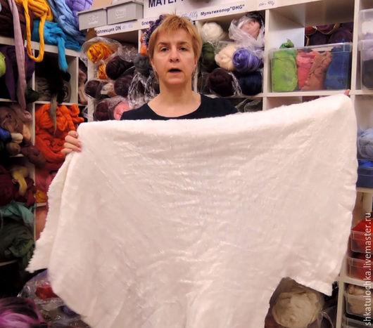 Валяние ручной работы. Ярмарка Мастеров - ручная работа. Купить Шелковое одеяло, 10г.. Handmade. Белый, шелковое одеяло