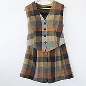 Одежда handmade. Livemaster - original item vests: Set of vest and shorts. Handmade.