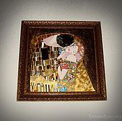 """Картины и панно ручной работы. Ярмарка Мастеров - ручная работа Картина """"Поцелуй"""" по мотивам работы Г.Климта (фрагмент). Handmade."""