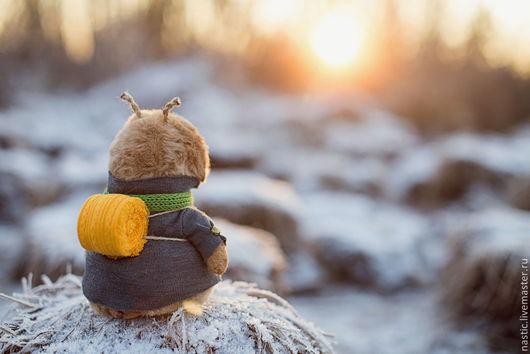 Мишки Тедди ручной работы. Ярмарка Мастеров - ручная работа. Купить зимнее путешествие. Handmade. Бежевый, искусственный мех