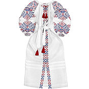 "Одежда handmade. Livemaster - original item Long dress with embroidery ""Charm of Traditions"". Handmade."