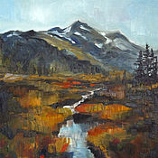 Картины и панно handmade. Livemaster - original item Pictures: Mountain landscape. Handmade.
