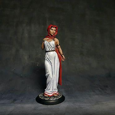 Сувениры и подарки ручной работы. Ярмарка Мастеров - ручная работа Оловянные солдатики, миниатюра / Римская женщина 54мм. Handmade.