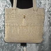 Сумки и аксессуары handmade. Livemaster - original item Knitted linen bag.Sountry. Handmade.